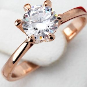 Tiffany's style Ballerina  Solitaire Ring